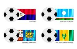 Voetbal van Heilige Martin, Sakha, Saint Pierre en  Royalty-vrije Stock Foto