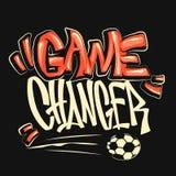 Voetbal vector grafische druk voor t-shirt Stock Foto