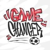 Voetbal vector grafische druk voor t-shirt Royalty-vrije Stock Fotografie