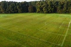 Voetbal (voetbal) hoogte stock foto