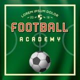 Voetbal, voetbalacademie, sportaffiche, vectorillustratie Stock Fotografie