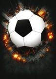 Voetbal of voetbalachtergrond stock afbeelding