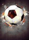Voetbal of voetbalachtergrond royalty-vrije stock afbeelding