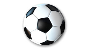 Voetbal, Voetbalbal, sportuitrusting op wit wordt geïsoleerd dat Royalty-vrije Stock Foto