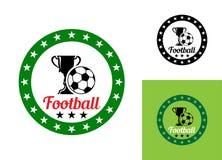 Voetbal of voetbalembleem Royalty-vrije Stock Afbeeldingen