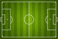 Voetbal of voetbalgebied Stock Afbeeldingen