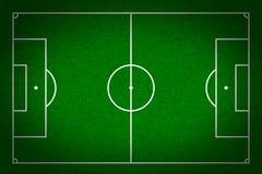 Voetbal - voetbalgebied met lijnen op grungedocument Royalty-vrije Stock Afbeelding