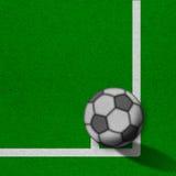 Voetbal - voetbalgebied met lijnen op grungedocument Royalty-vrije Stock Foto