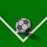 Voetbal - voetbalgebied met lijnen op grungedocument Royalty-vrije Stock Afbeeldingen