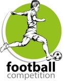 Voetbal of Voetballer stock fotografie