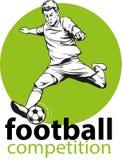 Voetbal of Voetballer royalty-vrije stock afbeelding