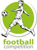 Voetbal of Voetballer stock afbeelding