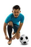 Voetbal, voetballer stock foto's