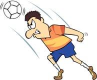 Voetbal/Voetballer met gekke uitdrukking Stock Foto's