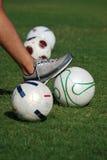 Voetbal of Voetbalster onbeweeglijk Stock Fotografie