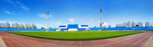 Voetbal Wereldkampioenschap 2018 Panorama van het opleidingsstadion van de stad van Togliatti, Samara-gebied stock afbeelding