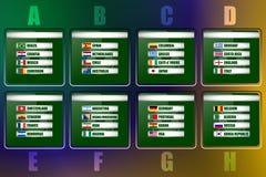 Voetbalachtergrond, de Groep van Brazilië 2014 stadium vector illustratie