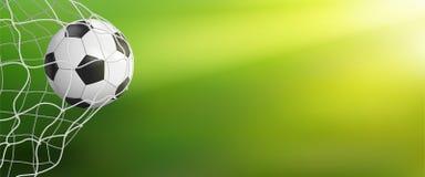 Voetbalachtergrond met bal in doel vector illustratie