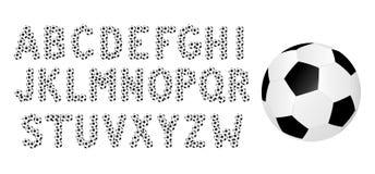 Voetbalalfabet vector illustratie