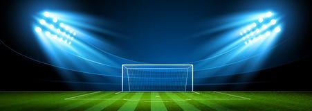 Voetbalarena stadion Vector Royalty-vrije Stock Afbeelding