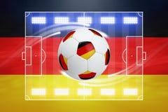 Voetbalbal, Duitse vlag Royalty-vrije Stock Afbeelding