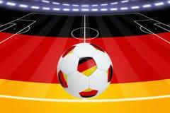 Voetbalbal, Duitse vlag Royalty-vrije Stock Fotografie