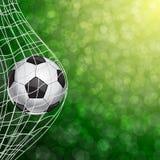 Voetbalbal in een Net Vector Royalty-vrije Stock Fotografie