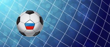 Voetbalbal in een Net Vector Stock Foto