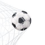 Voetbalbal in het Netto Pictogram Stock Foto's