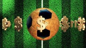 Voetbalbal met aantallen