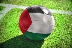 Voetbalbal met de nationale vlag van Palestina Royalty-vrije Stock Foto