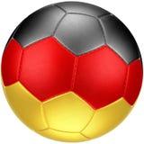Voetbalbal met (photorealistic) vlag van Duitsland Royalty-vrije Stock Foto's