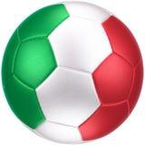 Voetbalbal met (photorealistic) vlag van Italië Stock Afbeeldingen
