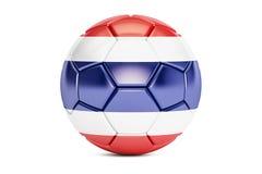 Voetbalbal met vlag van Thailand Royalty-vrije Stock Foto's