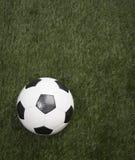 Voetbalbal op Gras Stock Afbeelding