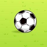 Voetbalbal op groene grasachtergrond Royalty-vrije Stock Foto's