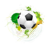 Voetbalbal op grungy achtergrond stock illustratie