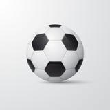 Voetbalbal in traditionele stijl Vector illustratie Stock Afbeeldingen
