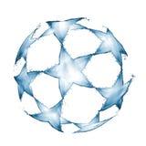 Voetbalbal van de witte achtergrond die van waterplonsen wordt gemaakt Royalty-vrije Stock Fotografie
