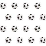 Voetbalballen over groen gebied Naadloze Achtergrond Vector illustratie Stock Foto's