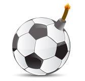 Voetbalbom stock illustratie