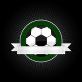 Voetbalembleem Royalty-vrije Stock Afbeeldingen
