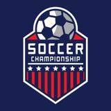 Voetbalembleem, het Embleem van Amerika Stock Fotografie