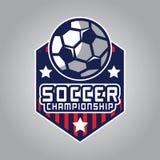 Voetbalembleem, het Embleem van Amerika Royalty-vrije Stock Foto