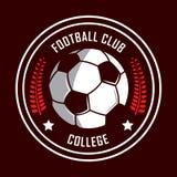Voetbalembleem, het embleem van Amerika, Klassiek embleem Stock Afbeeldingen