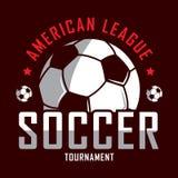 Voetbalembleem, het embleem van Amerika, Klassiek embleem Royalty-vrije Stock Foto