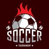 Voetbalembleem, het embleem van Amerika, Klassiek embleem stock afbeelding