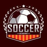 Voetbalembleem, het embleem van Amerika, Klassiek embleem Royalty-vrije Stock Afbeelding