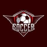 Voetbalembleem, het embleem van Amerika, Klassiek embleem Royalty-vrije Stock Afbeeldingen