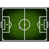 Voetbalgebied Stock Afbeelding